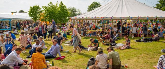 Festival terrein bij Halfweg